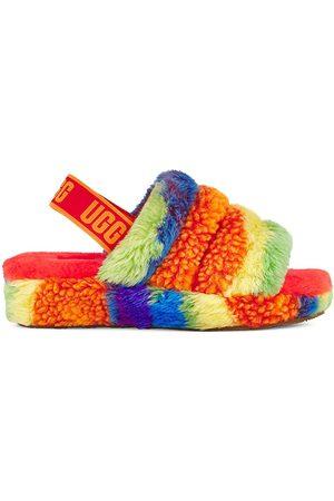 UGG Women Platforms - Women's Fluff Yeah Faux Sheepskin Slingback Slippers - Size 7