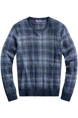 Ralph Lauren Men's Plaid Cashmere Crewneck Sweater - Multi - Size XL