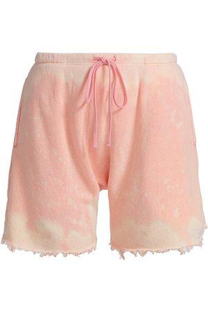 R13 Women's Dropped Crotch Sweatshorts - Bleached - Size Medium