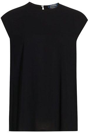 Max Mara Women's Renoir Cap-Sleeve Blouse - - Size 8