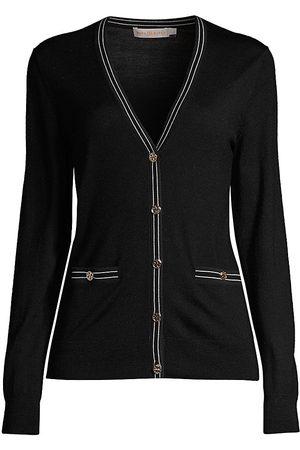 Tory Burch Women's Madeline Striped Trim Cardigan - - Size XS