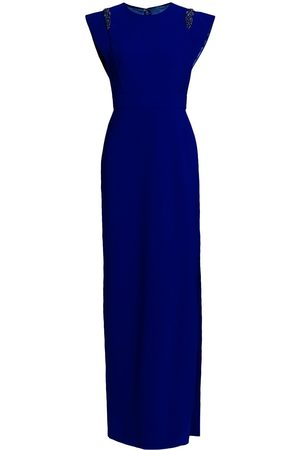 THEIA Women's Flange-Sleeve Crepe Dress - Cobalt - Size 6