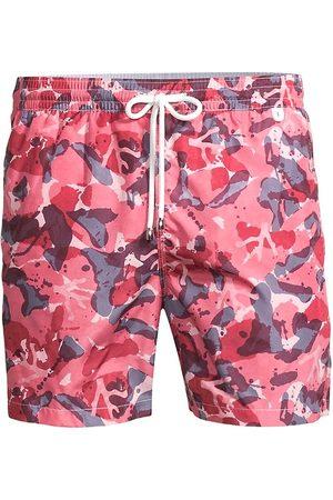 ISAIA Men Swim Shorts - Men's Camo-Print Swim Trunks - - Size Small