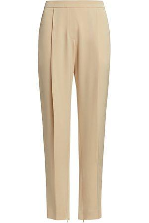Halston Heritage Women Pants - Women's Elle Tapered Crepe Pants - Linen - Size 10