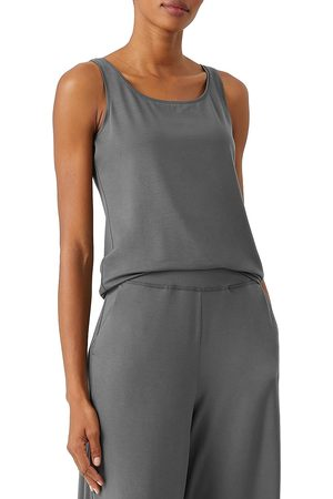 Eileen Fisher Women Accessories - Women's Scoop Neck Slim Shell - Slate - Size 18