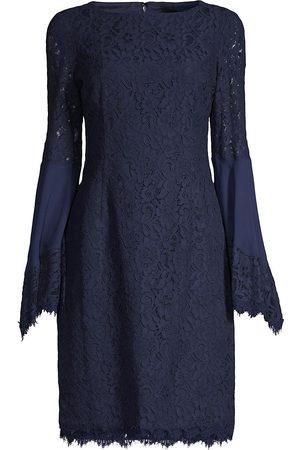 Shani Women Evening dresses - Women's Boho Flute-Sleeve Lace Dress - Navy - Size 16