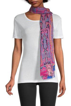Etro Women Scarves - Women's Delhy Paisley Wool & Silk Scarf