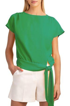 Trina Turk Women's Salas Side-Tie Top - Grennery - Size Medium