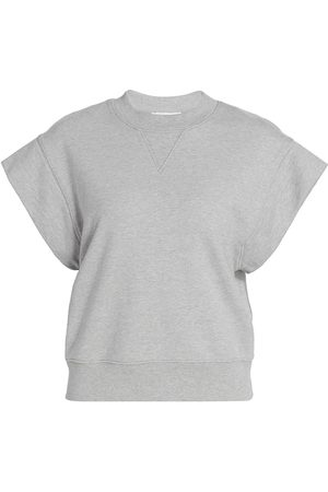 Frame Women's Oversized Muscle Crewneck - Gris Heather - Size Small
