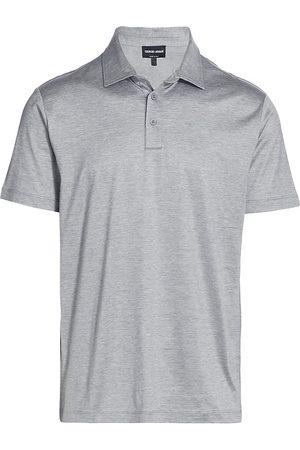 Armani Men Polo Shirts - Men's Polo Shirt - Solid Dark - Size 42