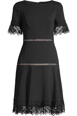 Shani Women's Lace-Trimmed Crepe Dress - - Size 4