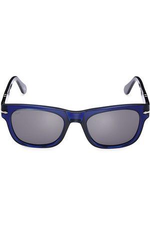 Persol Men's 50MM Square Sunglasses - Cobalto
