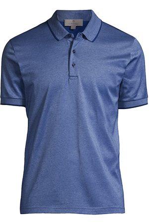 CANALI Men's Cotton Short Sleeve Polo - - Size 38