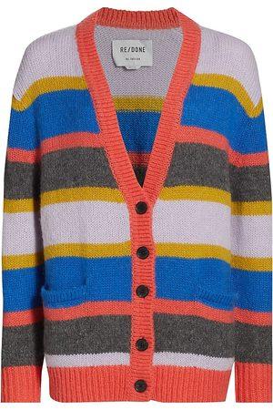 RE/DONE Women Denim - Women's 90s Oversized Striped Cardigan - Multi Stripe - Size Medium