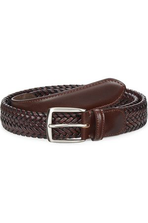 Saks Fifth Avenue Men's COLLECTION Woven Leather Belt - - Size 38