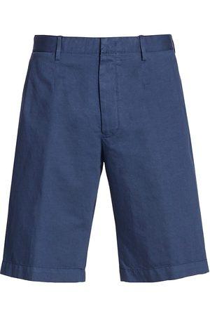 Ermenegildo Zegna Men Sports Shorts - Men's Cotton-Linen Shorts - Navy - Size 48