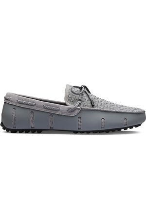 Swims Men Loafers - Men's Woven Driver Loafers - Grey - Size 13