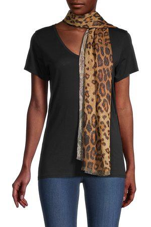 Etro Women's Delhy Silk Double-Print Scarf - Leopard