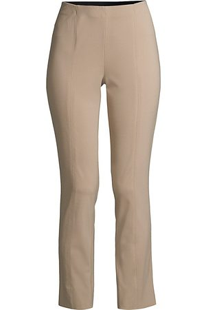 Misook Women Pants - Women's Pull-On Lightweight Ponte Pants - Macchiato - Size Large