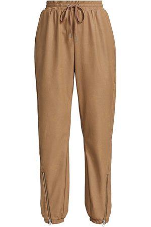 N:philanthropy Women Leather Pants - Women's Marten Vegan Leather Joggers - Camel - Size XS