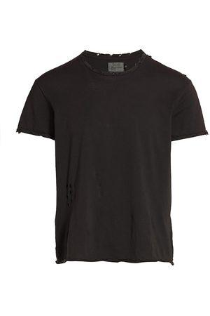 R13 Men T-shirts - Men's Destroyed T-Shirt - Olive Tweed - Size XS