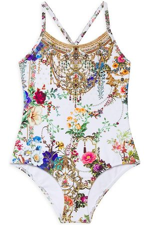 Camilla Little Girl's & Girl's Mad Manor Bejewel-Print One-Piece Swimsuit - By The Meadow - Size 8