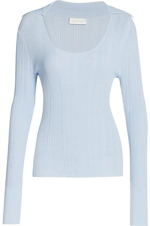 RONNY KOBO Women's Alona Knit Long-Sleeve Top - Artic - Size XS