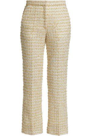 ST. JOHN Women's Textural Eyelash Knit Pants - Ecru Multi - Size 10