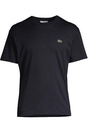 Lacoste Women T-shirts - Women's Solid Crewneck Jersey T-Shirt - Navy - Size XXXL