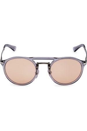 Persol Men's 50MM Aviator Sunglasses - Trasparent Grey
