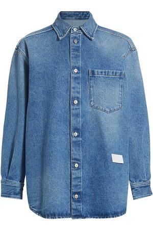 MM6 MAISON MARGIELA Women Denim - Women's Oversized Denim Shirt - Seasonal Wash - Size 0