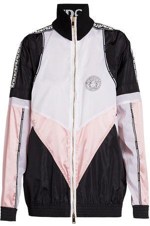 VERSACE Women Jackets - Women's Colorblock Logo Track Jacket - - Size 8