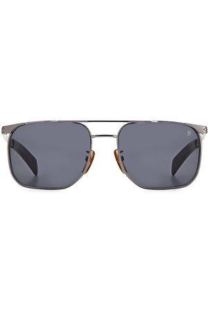 David beckham Men's 56MM Square Aviator Sunglasses