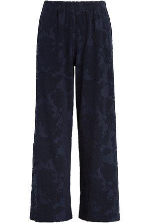 Leset Women's Fiona Floral Wide-Leg Pants - Navy - Size XL