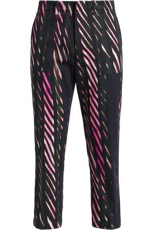 DRIES VAN NOTEN Men's Pyril Diagonal Vertical Stripe Graphic Pants - - Size 42