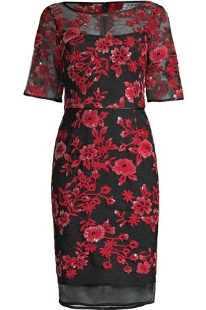 Shani Women Evening dresses - Women's Novelty Embroidered Illusion Dress - - Size 16