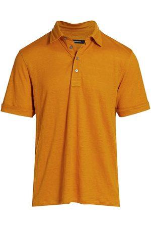 Ermenegildo Zegna Men Polo Shirts - Pure Linen Polo T-Shirt