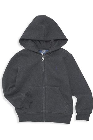 Ralph Lauren Boys Hoodies - Little Boy's & Boy's Classic Zip-Front Hoodie - Avery Heather - Size 6