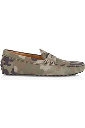 Tod's Men Loafers - Men's Camouflage Moccasin Loafers - Camo - Size 11