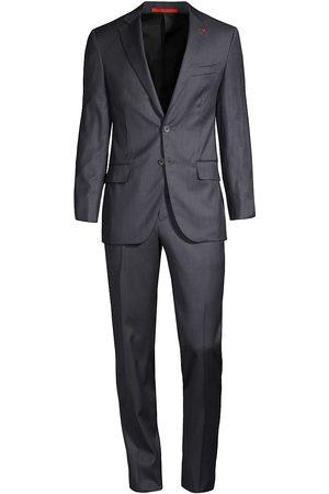 ISAIA Men Suits - Men's Wool & Silk Suit - Charcoal - Size 40