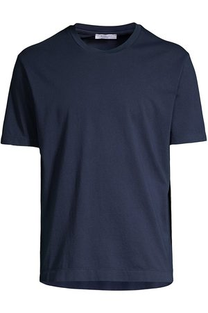 Boglioli Men's Solid T-Shirt - Navy - Size XL