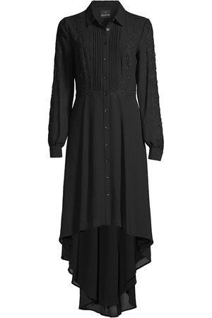 Shani Women's High-Low Georgette Midi Shirtdress - - Size 16