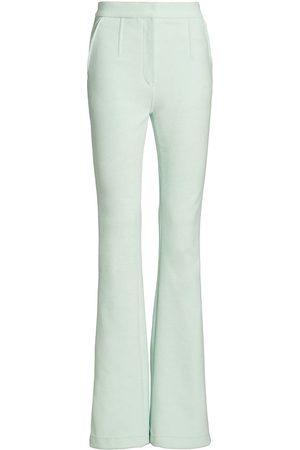 Alexander Wang Women Wide Leg Pants - Women's Flared Trousers - Glacier - Size 12