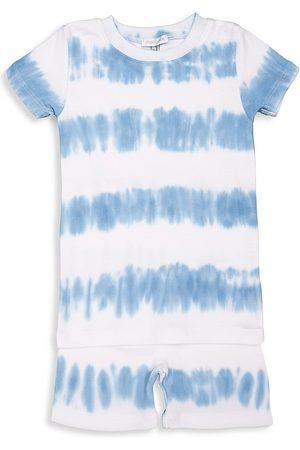 Baby Noomie Baby's & Little Boy's 2-Piece Tie-Dye Stripes Short Pajama Set - - Size 12 Months