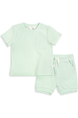 FIRSTS by petit lem Boys Sets - Baby Boy's Pears 2-Piece T-Shirt & Shorts Set - Light - Size 12 Months