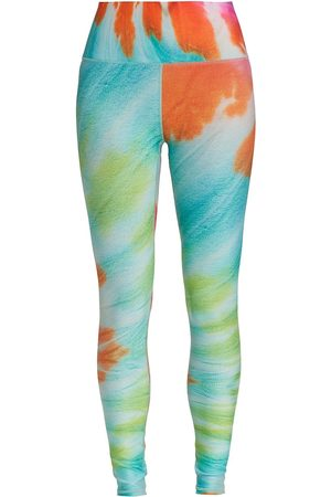 Terez Women Leggings - Women's Totally Tie Dye High-Shine Leggings - Tie Dye - Size Large