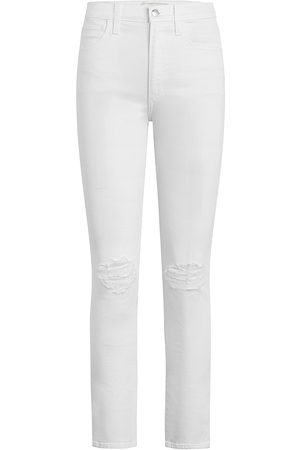 Joes Jeans Women High Waisted - Women's The Luna High-Rise Distressed Cigarette Ankle Jeans - - Size 29