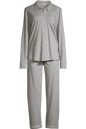 SKIN Women Pajamas - Women's Cecilia 2-Piece Pajama Set - Heather Grey - Size Large
