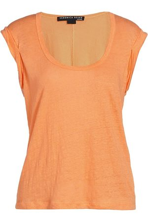 VERONICA BEARD Women's Arion Muscle T-Shirt - Tangerine - Size XS