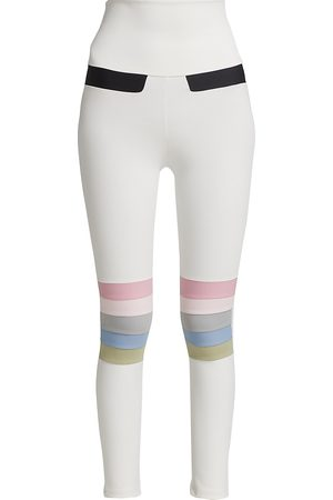 Port De Bras Women Leggings - Women's Moto Rainbow Leggings - Chantilly Pastel - Size Medium